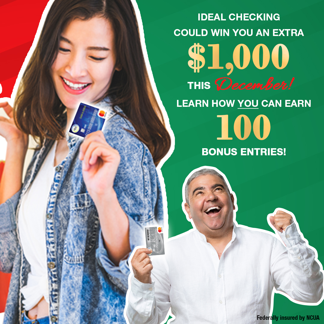 Happy man and woman excited about $1,000 Holiday Giveaway
