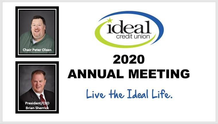Ideal CU 2020 Annual Meeting