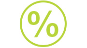 percentage sign icon
