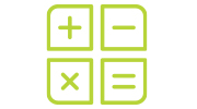calculator sign icon
